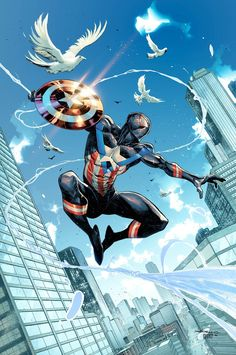 Marvel Dc Comics, Marvel Art, Marvel Heroes, Ultimate Spider Man, All Spiderman, Amazing Spiderman, Comic Books Art, Comic Art, Arte Dark Souls