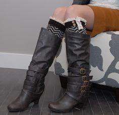 These are so Cute!! Brown Chevron Stripe Leg Warmer