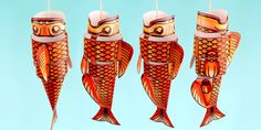 Chinese New Year Fish Lantern 3D Printable - chinese new year, fish lantern, 3d, paper craft, paper model, craft, model, paper, activity