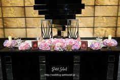 メインテーブル装花 紫