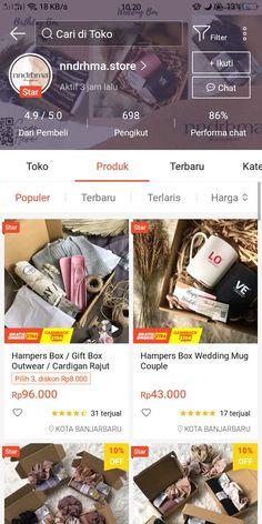 Selamat datang di @nndrhma.store ! Hampers box by nndrhma.store Another platform ; Instagram : @nndrhma.store ✨Mohon untuk membaca deskripsi terlebih dahulu sebelum Check out ✨Isi Kartu ucapan bisa di custom dan dikirim pada keterangan 'pesan' saat check out ✨Bintang 1,2, dan 3 tanpa alasan yang jelas akan kami BLOKIR ✨Setiap packingan sudah termasuk bubble wrap 1 lapis, jika ingin lebih aman silahkan tambahkan bubble wrap yang ada di etalase. Best Online Stores, Online Shopping Stores, Hamper Boxes, Aesthetic Shop, Modern Hijab Fashion, Bullet Journal Aesthetic, Diy Wall Decor, Skin Care, Gifts