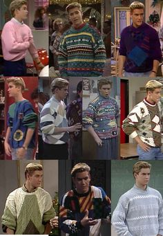 """Zack Morris: Boy could wear a sweater. 