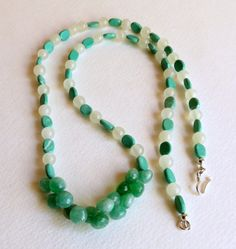 Quartz and Amazonite Necklace Sterling Silver by Smokeylady54