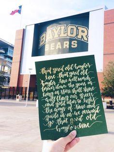 """Baylor University """"That Good Old Baylor Line"""" print"""