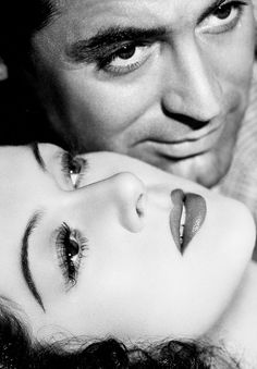 Rosalind Russell and Cary Grant in a publicity photograph for His Girl Friday, 1940.