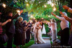 Daytime Wedding Sparklers