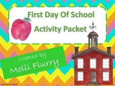 First Day of School Activity Packet! Great beginning of the year activities!