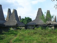 traditional houses of Sumba, Indonesia