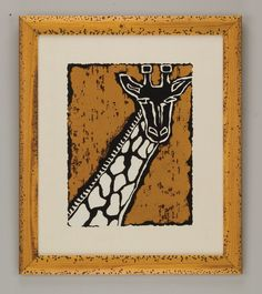 Serengeti Giraffe  nice block print idea for kids