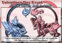 Dragonville Valentine's day event. Awwwww.... so cute! Simply adorable dragons.