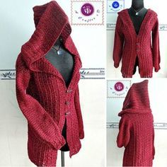 Crochet Hooded Jacket Free Pattern And Video | The WHOot