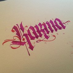 Karma #quotes #ink #calligraphy