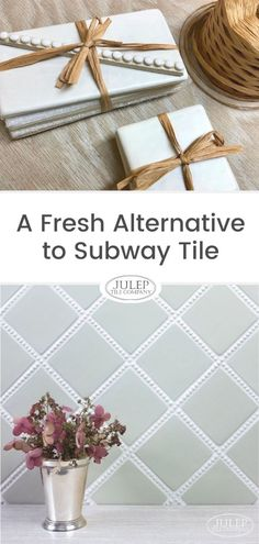 Are you a bit hesitant to use subway tile in your home? Does it feel a little too trendy or dated? We've got something that's unique, fresh, & timeless! You'll love the classic look of this subway tile alternative! Country Kitchen Backsplash, Subway Tile Kitchen, Kitchen Tops, French Country Kitchens, Country French, Kitchen Inspiration, Design Inspiration, Design Ideas, Pattern Ideas