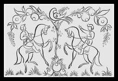 Русское Народное Искусство, Живопись На Подносах, Вышивание, Вдохновение, Шаблоны, Google, Цветочный Рисунок, Мережка, Акварельная Живопись