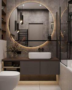 Washroom Design, Bathroom Design Luxury, Bathroom Layout, Modern Bathroom Design, Modern Toilet Design, Home Room Design, Home Interior Design, Toilette Design, Wc Design