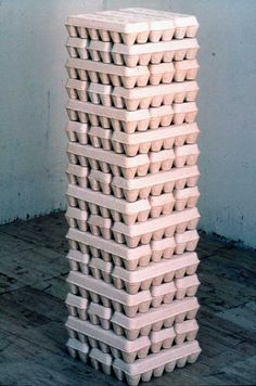 Belgian/Canadian artist, Thierry Delva's 1995 sculpture entitled, 48 Dozen.