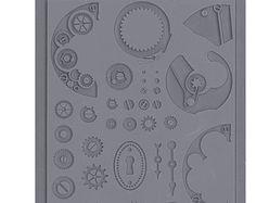 PACK x2 Steampunk Gear textuur RUBBER MOLDS door GreenStuffWorld