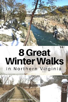 Here are 8 great winter walks in Northern Virginia, on dirt, paved, or boardwalk trails that are enjoyable except when conditions are icy or very wet. Winter Walk, Winter Hiking, Winter Travel, Get Outdoors, The Great Outdoors, Virginia Attractions, Hiking In Virginia, Virginia Usa, Virginia Is For Lovers