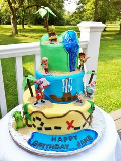 Neverland Pirates - Buttercream iced cakes.  The characters are plastic that the customer supplied.  Thanks for looking!  Lisa