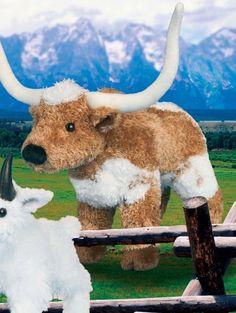 Stuffed Animal: Tbone Longhorn Steer Soft Cuddly Farm Barnyard Animal 8 By Douglas Cuddle Toys >>> Details can be found by clicking on the image.