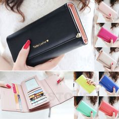 http://www.walletseller.com/womens-wallets/ Style:Clutch Features:Photo Holder/Zip-Around/Checkbook Material:PU Leather Country/Region of Manufacture:China 2015 New Fashion Lady Women Purse Long #Wallet Bags PU Handbags Card Holder Gift $6.79