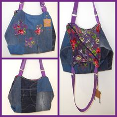 Arya aus Jeans im Boho - Style, genäht von Julia im Sommer 2017 Jeans, Backpacks, Album, Boho, Fashion, Fabric Handbags, Bags Sewing, Summer Recipes, Projects