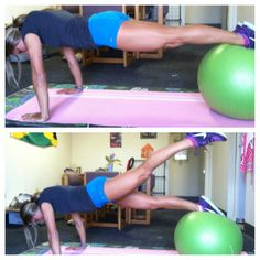 7 exercises for a Stability Ball Ab Routine