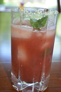 Healthy drink recipe for the summer - make watermelon ice tea at home with your kids.  Plus - great drink for a kids summer party.