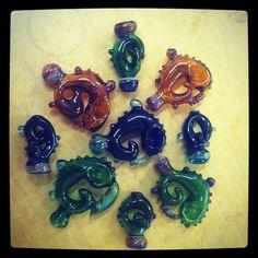 batch of glass pipes #Bong #Pipe #Waterpipe #Stoner #Pot #Weed #Glasspipe #Teagardins #SmokeShop http://Teagardins.com