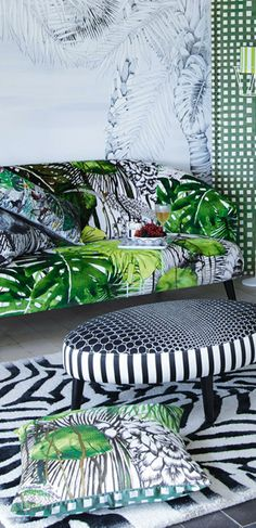 Love this fabric. So tropical and lush Christian Lacroix | Radford Furnishings