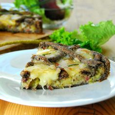Crostata di finta sfoglia con porri e prosciutto crudo - senza glutine http://blog.giallozafferano.it/passionecooking/crostata-di-finta-sfoglia-con-porri-e-crudo/