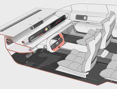 FIAT 130 on Behance Car Interior Design, Interior Sketch, Automotive Design, Fiat, Concept Cars, Cool Designs, Adobe Photoshop, Industrial Design, Product Design