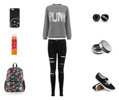 """PUNK"" by izzybizzyfizzy ❤ liked on Polyvore featuring Miss Selfridge, Bella Freud, Vans, Urban Decay, Marc by Marc Jacobs and Maybelline"