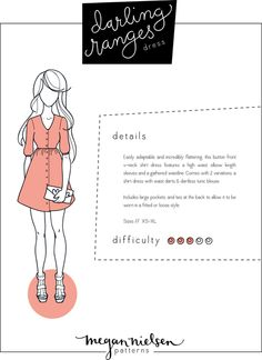 Megan Nielsen Darling Ranges dress sewing pattern // Now available as an instant download PDF!!!