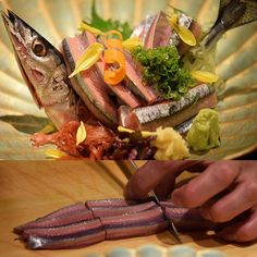 SanmaPacific saury Sashimi  秋刀魚のお造り  #kaiseki #cuisine #kitaohji #sanma #pacificsaury #saury #pike #サンマ #秋刀魚 #sashimi #japanesefood #instafood #foodpic #yum #yummy #thonglor #sukhumvit #bangkok #อาหารญ #dinner #authenticjapanesecuisine by takashi.kitahara