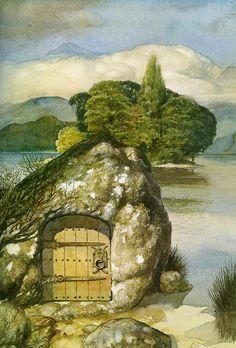 Alan Lee - Faeries - The Gwragedd Annwn Alan Lee, High Fantasy, Fantasy Art, Tolkien, Fairy Land, Fairy Tales, Hobbit Films, Brian Froud, Legends And Myths