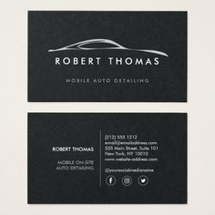 275 best auto detailing business cards images on pinterest auto auto detailing repair on black paper business card reheart Gallery
