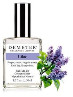 "Fragrance of the Day for May 7, 2012 is ""Lilac"". Beautiful spring flowers, driving by it perhaps, a quick burst of intense, almost overwhelming, scent...We're in danger of some ""purple prose"" here, we know. But, we do love it. Receive 50% off our Fragrance of the Day with promotion code 68828925. http://www.demeterfragrance.com/"