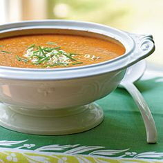 101 Healthy Soup Recipes on Cooking Light, most of which can be converted to slow cooker I am sure... I will enjoy these over winter!
