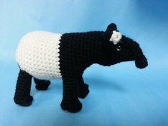 Malayan Tapir Realistic Amigurumi Crochet by EthicalAntiquities, $5.00