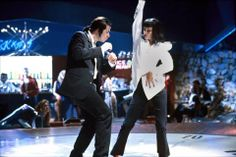 Vince & Mia in Pulp Fiction