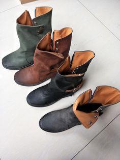 6c11977adbaa5 Vintage Casual Low heel Platform Ankle Boots