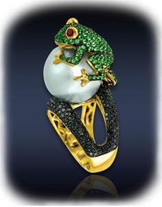 Frog Cocktail Ring Rings Collection | Fine Jewelry | Ladies Jewelry | Jacob and Co
