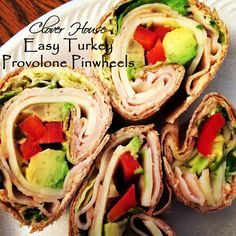 By Clover House: Easy Turkey Provolone Pinwheels  ~ shared at Brag About It Link Party on VMG206 (Monday's at Midnight). #bragaboutit