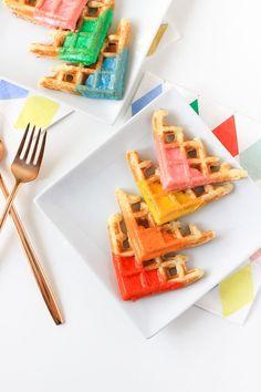 Color Blocked Waffle Bites