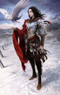 Armoured knight female, seunghee lee on ArtStation at https://www.artstation.com/artwork/armoured-knight-female Maybe something for https://Addgeeks.com ?
