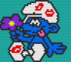 Smurf In Love bead pattern