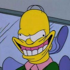 """101 Smile Memes - """"The fake smile your girl puts on when you introduce her to a female friend. Memes Humor, Funny Memes, Hilarious, Cartoon Icons, Cartoon Memes, Funny Cartoons, The Simpsons, Simpsons Quotes, Simpsons Springfield"""