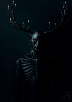 "Wendigo by on - Reminds me of the TV series ""Hannibal"" Hannibal Tv Series, Nbc Hannibal, Hannibal Lecter, Hannibal Quotes, Horror, Le Wendigo, Dark Fantasy, Hannibal Wendigo, Arte Obscura"