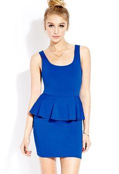 Posh Peplum Dress   FOREVER 21 - 2000126319